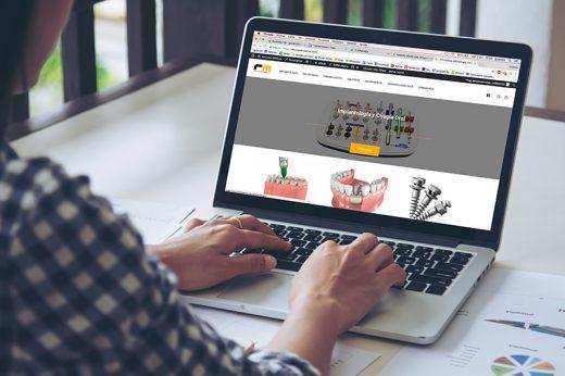 Sitio web de vente de implantes para ortodoncia