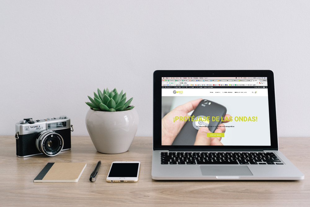 Página web de Producto para celulares